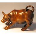 Boxwood Netsuke Bull