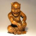 Boxwood Netsuke Devil