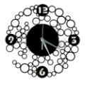 Circles Decorative Wall Clock