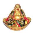 Golden Laughing Buddha on Great Ingot