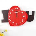 I Love You Heart Shape Decorative Wall Clock