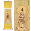 Kwan Yin Bodhisattva Silk Painting