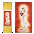 Kwan Yin Silk Painting