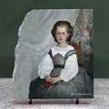 Portrait of Mademoiselle Romaine Lacaux by Pierre Auguste Renoir Oil Painting Reproduction on Marble Slab