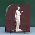 Sculpture Art Hebe by Berthel Thorvaldsen Painting on Marble Slab