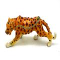 Standing Leopard Alloy Trinket Box