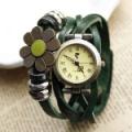 Sunflower Bracelet leather Rivet Stud Watch