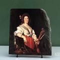 The Viola da Gamba Player by Bernardo Strozzi Oil Painting Reproduction on Marble Slab