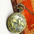 Three Horses Metal Pocket Watch