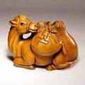 Wood Netsuke Camel