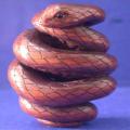 Wood Netsuke Snake