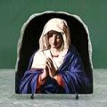 the Virgin in Prayer by Giovanni GuidiGiovanni Battista Salvi da Sassoferrato Oil Painting Reproduction on Marble Slab