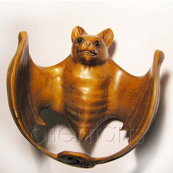 Wood Netsuke Bat Manufacture In China And Wholesale Worldwide